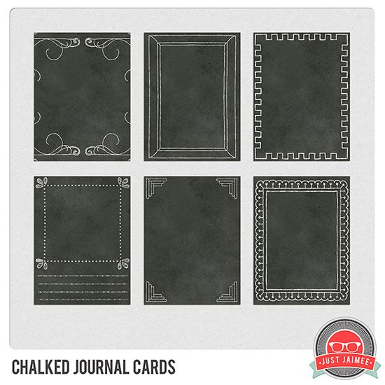 Chalkboard journaling cards