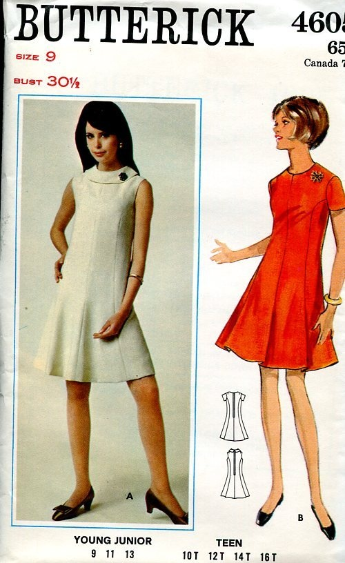 Butterick 1960's Mod Dress