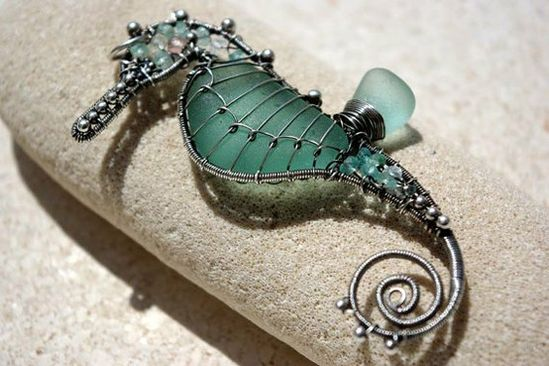 Sea glass Sea Horse