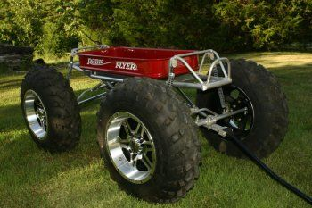 My hubby wants to build this for our future kids someday-An off-Road Radio Flyer Wagon