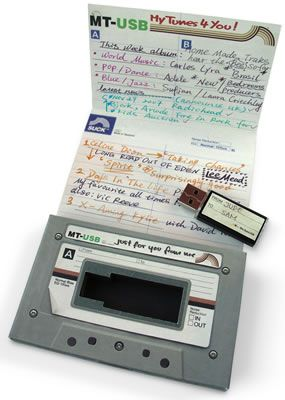 USB mix tape. Awesome.
