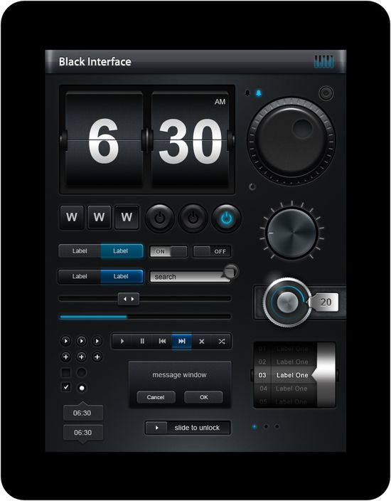 Black buttons and toggles. #ui #dark