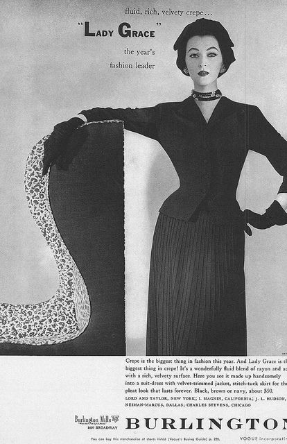 Chic crepe 1950s pleats. #ad #vintage #fashion #1950s