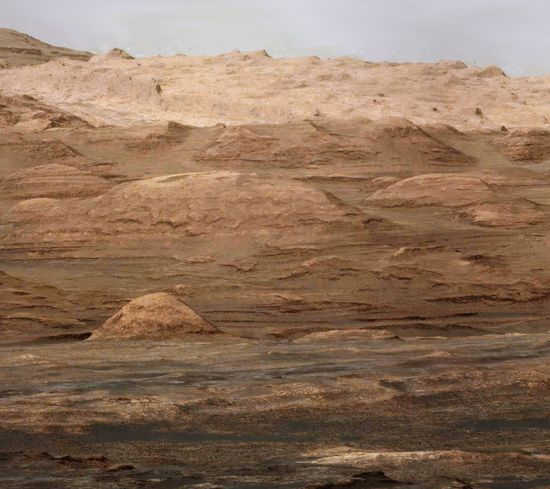 September 2013 shot from the Curiosity rover showing the foothills of Mt. Sharp on Mars. These layers hold the history of the planet like the pages of a book.