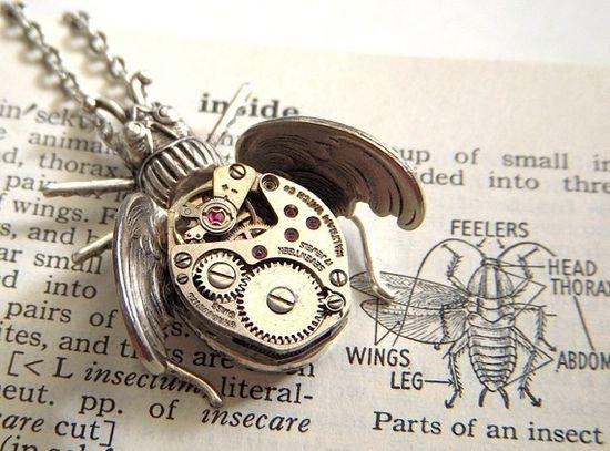 steampunk bug jewelry