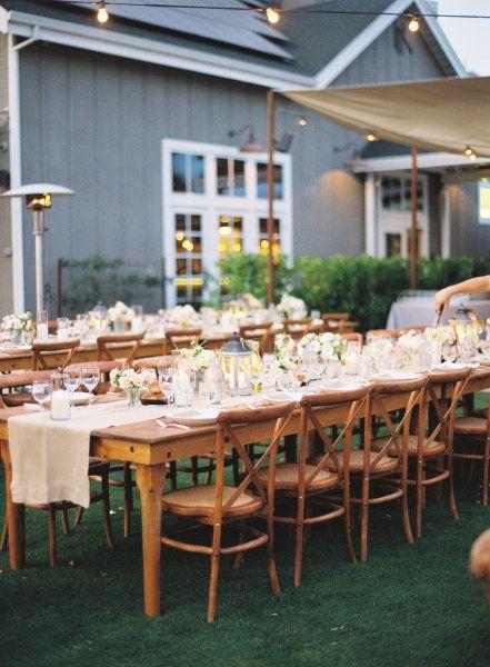 farm tables.