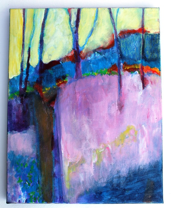 Landscape Painting Abstract Contemporary by kerriblackmanfineart, $65.00