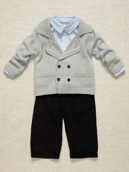 Dapper Outfit for a Baby Boy (Wendy Bellissimo Boys via Gilt)