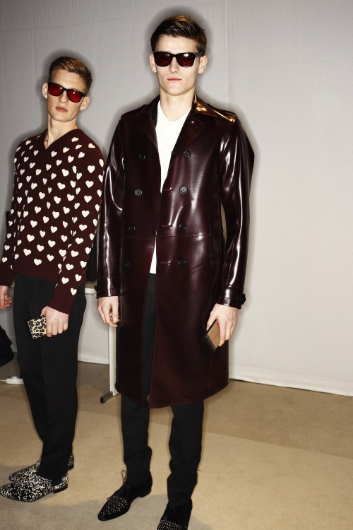 Burberry Prorsum Men AW13/14 Fashion show Milan Backstage