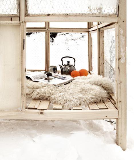 winter hideout.