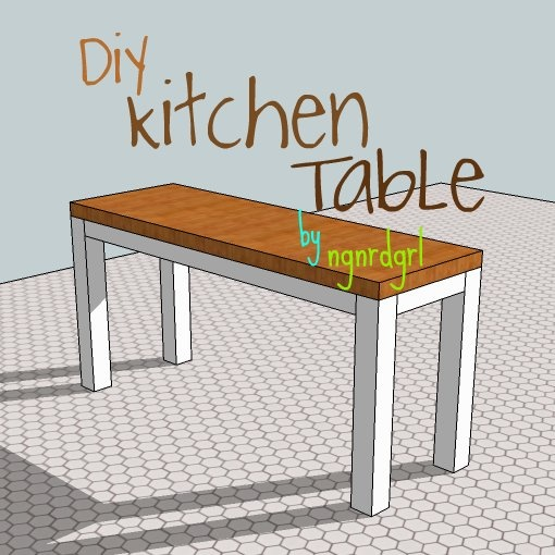 DiY Kitchen Table Project by ngnrdgrl