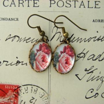 Rose earrings handmade  #Charmed Memory #Zibbet