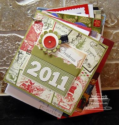 christmas card mini book