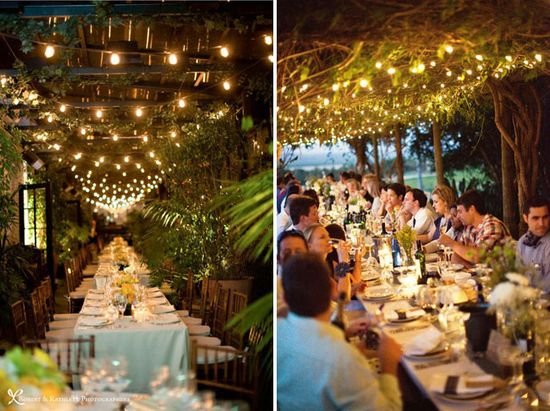 string lights for wedding reception outdoors