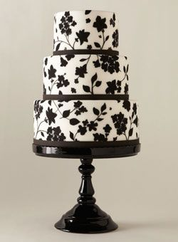 Black & white wedding cakes