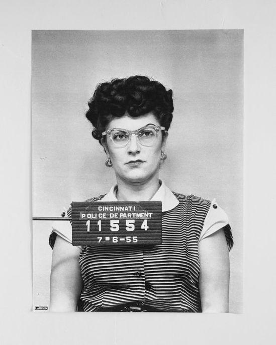I wonder what this tough lady did? Vintage mugshot