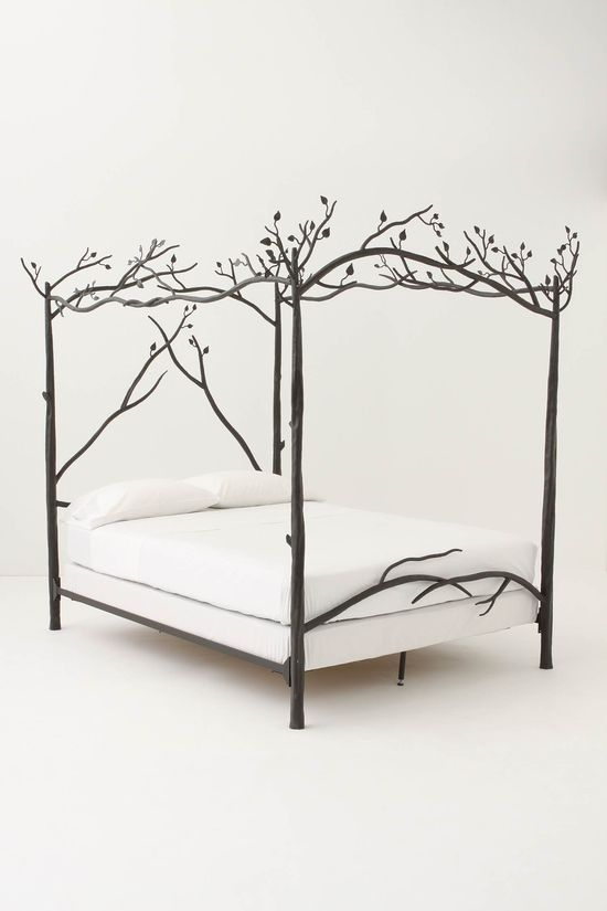 Forest canopy bed - Slumber in an enchanted wood and dream of ancient incantations as hand-forged iron branches cast their leafy net high above your head.