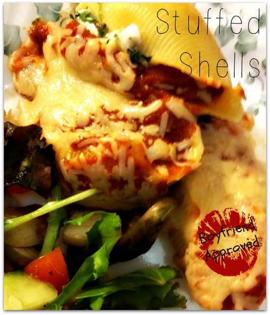 Boyfriend Approved: Stuffed Shells and other great food that boyfriends will eat!