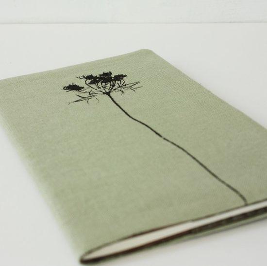 Handmade journal. I like the cover art.
