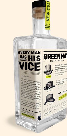 Green Hat Gin. Very nice for all you #gin #packaging lovers. PD