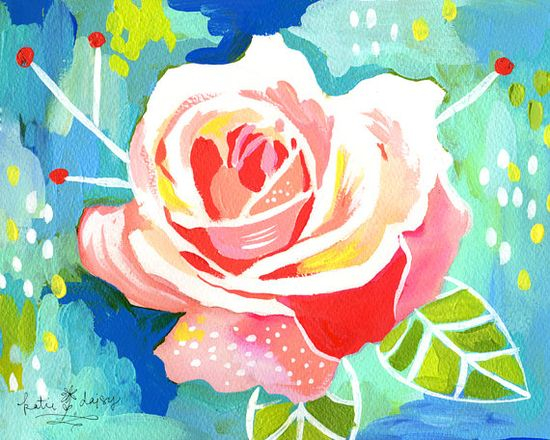 Rose by Katie Daisy- I love her paintings, so inspiring.