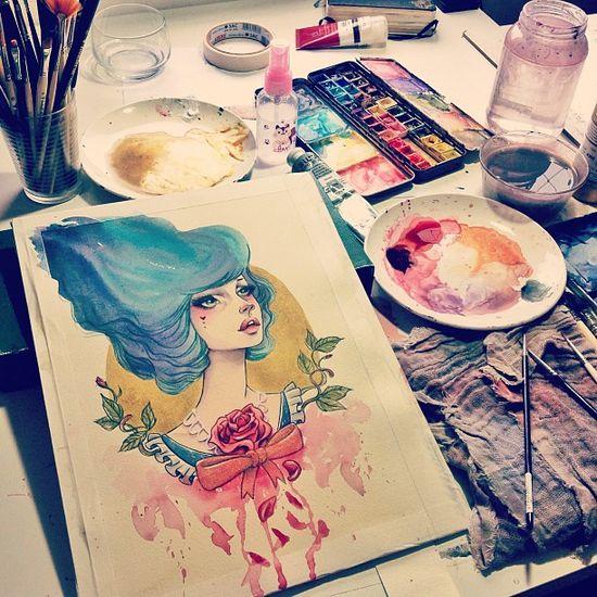 instagram.com/samesjc  #watercolor #acrylic #paint #art #trekell #lukas