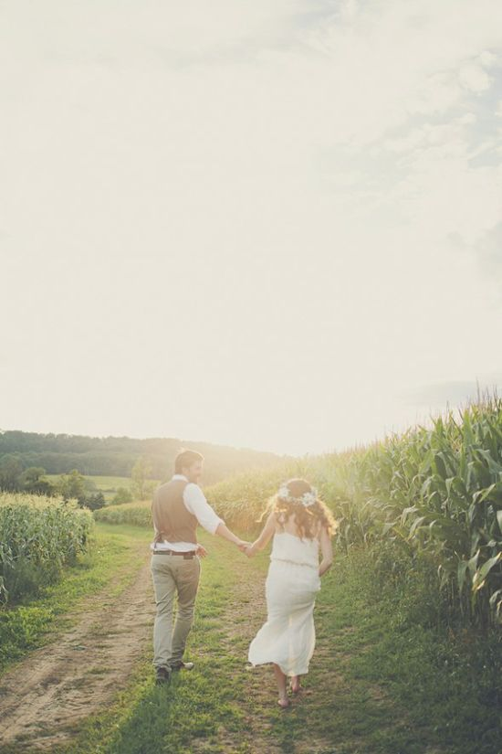 Romantic Wedding On Farm