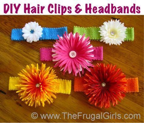 DIY Hair Clips and Headbands