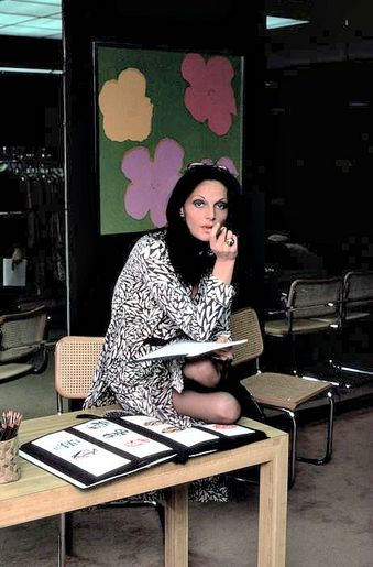 Diane von Furstenberg in her showroom, New York City, 1976