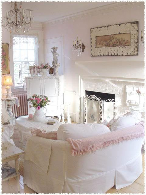 pretty in pink- a guesthouse living room