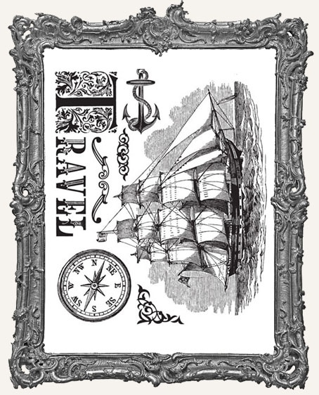 Almanac Travel Collection - Clear Acrylic Stamps