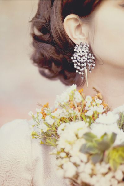stunning earrings from jcrew.com Photography by Julie Pepin Photography / juliepepin.com