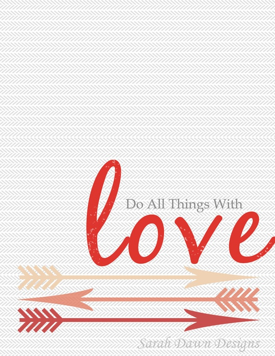 A Valentines Day Printable to make your own cards and decorations