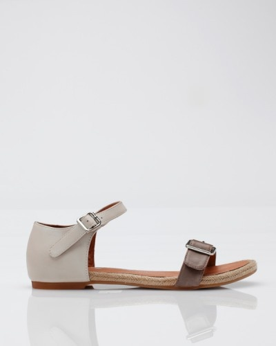 Azores Sandal In Grey And Ivory by Jeffrey Campbell #Sandals #Jeffrey_Campbell