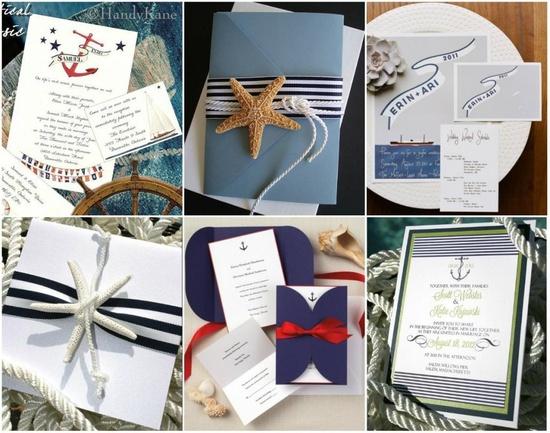 Nautical wedding invitation inspiration.