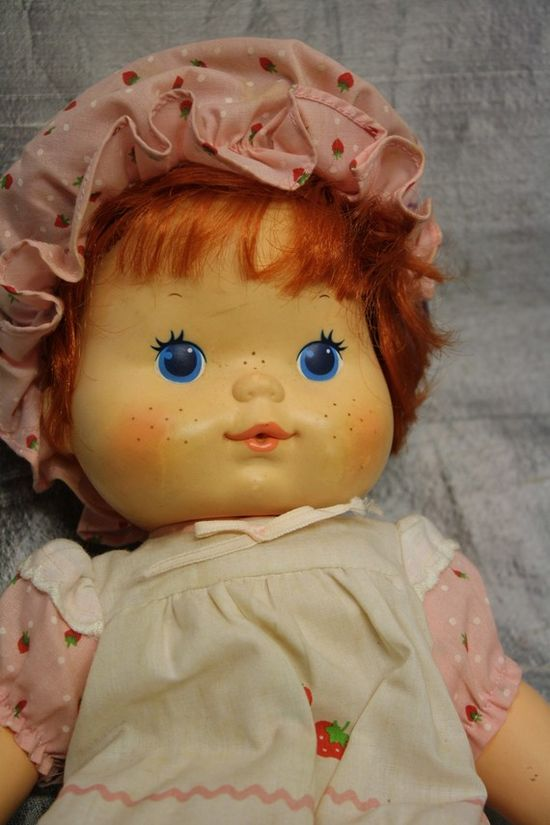 my favorite doll!  she blew strawberry scented kisses when you squeezed her.