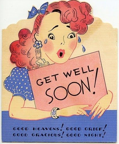 "Vintage ""get well soon"" greeting card"