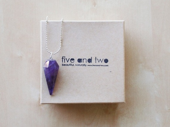 Amethyst point necklace RUMER by FIVEANDTWOshop on Etsy, $25.00