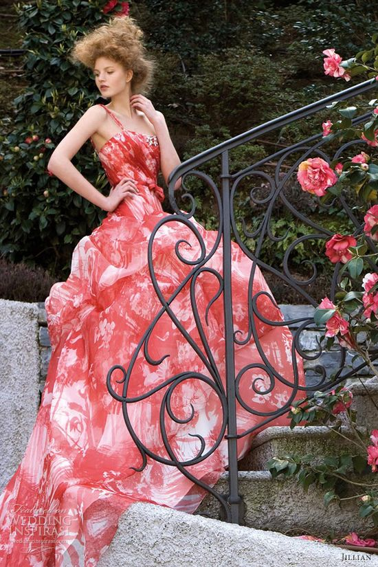 jillian 2013 color wedding dresses red print