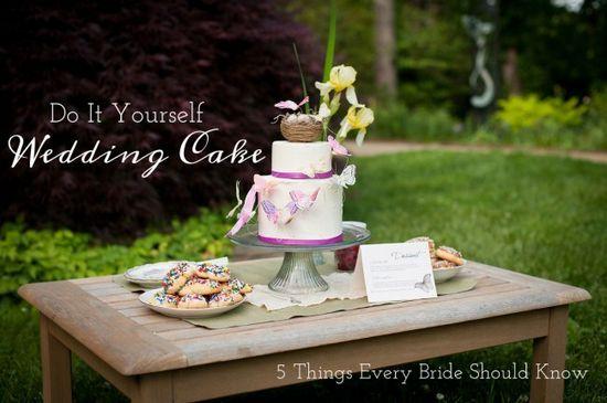 Do it yourself wedding Cake