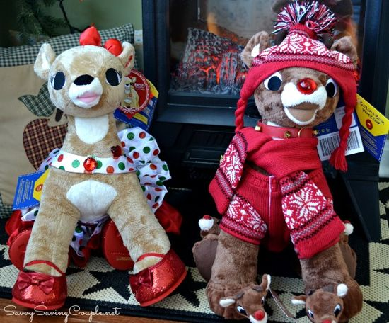 Build-A-Bear-Workshop: Rudolph and Clarice Winter-Themed Stuffed Animals #HolidayGiftGuide
