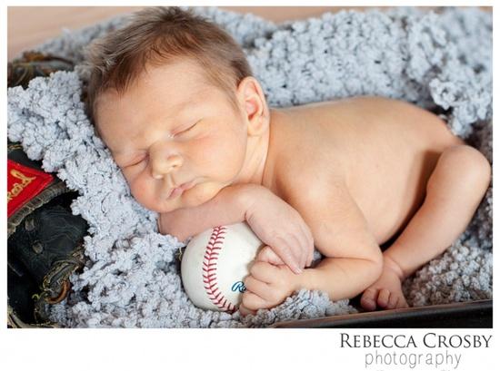 Rebecca Crosby Photography » Blog Baby Boy Newborn Photo Ideas Baseball
