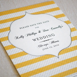 simple striped save the date