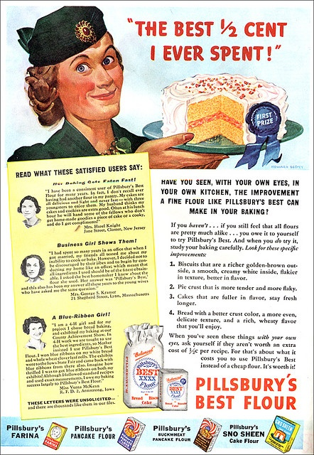 It's the best 1/2 cent she ever spent! #vintage #food #1930s #ad #baking