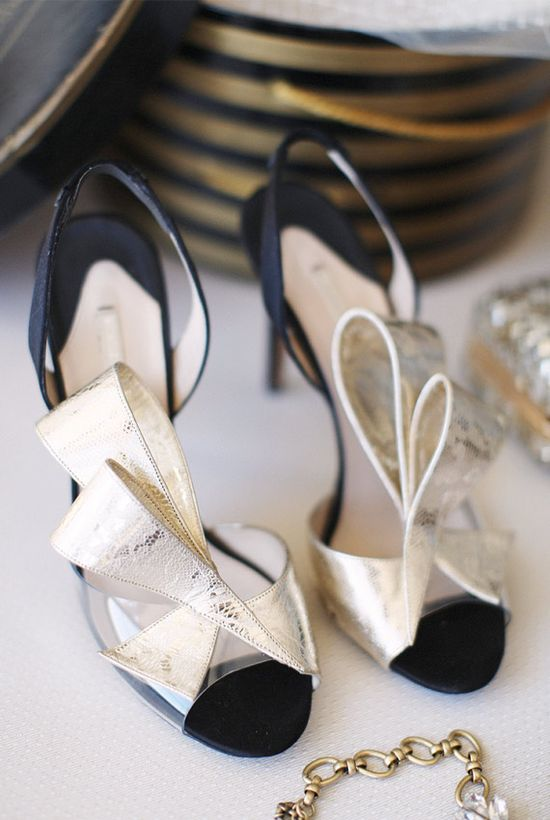 Art deco inspired wedding shoes