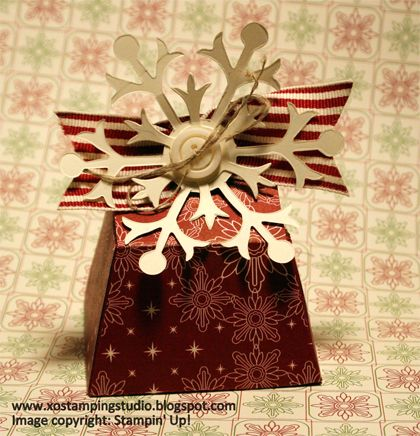 stampin up, dostamping, dawn olchefske, demonstrator, michelle heikens, petite purse box, petite purse bigz l die, big shot, christmas