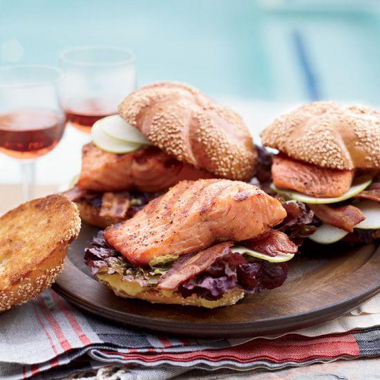 Grilled Glazed-Salmon Sandwiches from Marcia Kiesel // Best Sandwiches in the U.S: www.foodandwine.c... #foodandwine #fwpinandwin