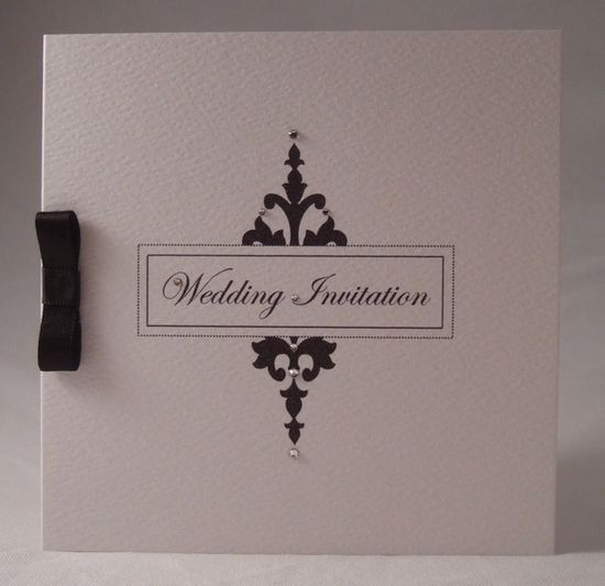 Wedding Invitation Sample, Monochrome Printed Design, Handmade Invitation £2.00