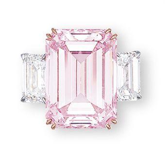 Pink Emerald Cut Diamond