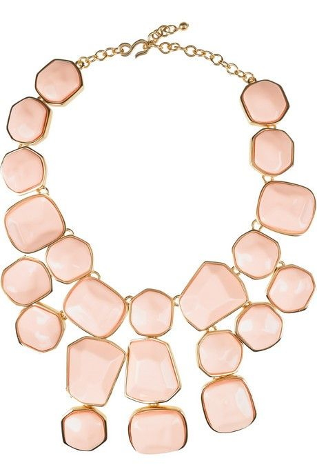 Stone bib necklace